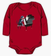 Piano lesson (Doggy Art) One Piece - Long Sleeve