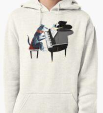 Sudadera con capucha Piano lesson ( Doggy Art )