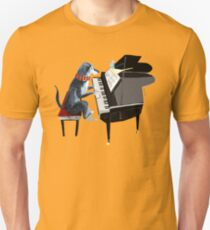 Piano lesson (Doggy Art) Unisex T-Shirt