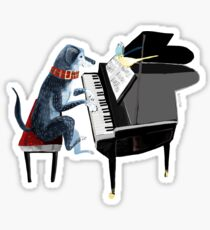 Piano lesson (Doggy Art) Sticker