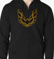 Pontiac Firebird Graphic Logo  Zipped Hoodie