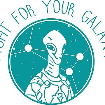Stellaris Alien 03 Teal  by msFiBi