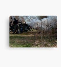 civil war re-enactment Canvas Print