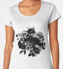 BLACK FLOWERS Women's Premium T-Shirt