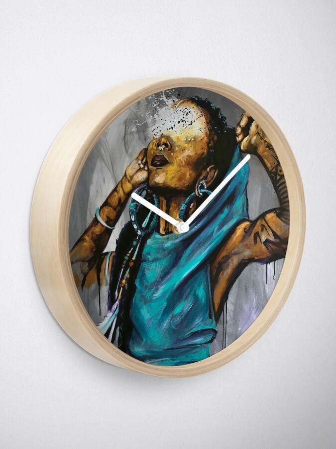 Alternate view of Naturally VoodouFairy Clock