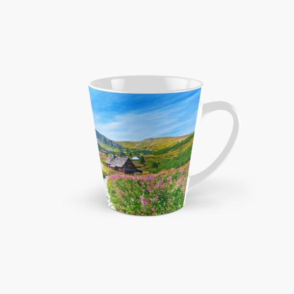 Blue sky over path through Gasienicowa Valley in Tatry mountains, Poland Tall Mug