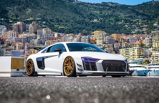 Audi R8 Tuning In Monaco Posters By Biffio Redbubble