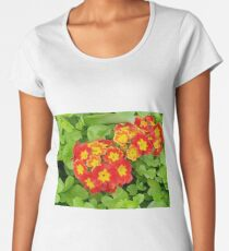 Red flower in a garden Women's Premium T-Shirt