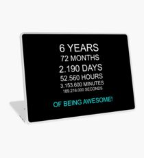 6th birthday kids awesome gift idea Laptop Skin