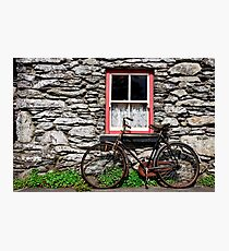 Rural Ireland Cottage Bicycle Old Photograph Photographic Print