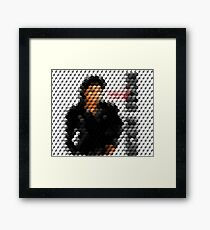 Michael Jackson Bad Cuboid 2 Framed Print