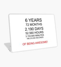 6 years children awesome gift idea birthday Laptop Skin