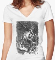 The Jabberwocky - Alice Through The Looking Glass / John Tenniel Women's Fitted V-Neck T-Shirt