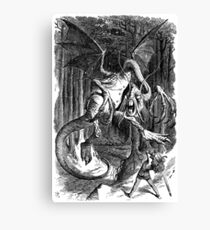 The Jabberwocky - Alice Through The Looking Glass / John Tenniel Canvas Print