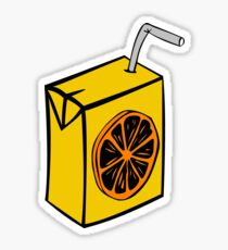 Orange juice carton Sticker