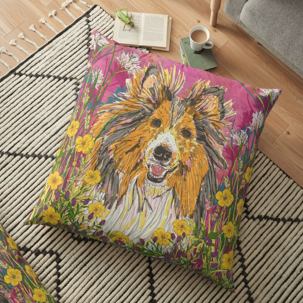 Sheltie Floor Pillow