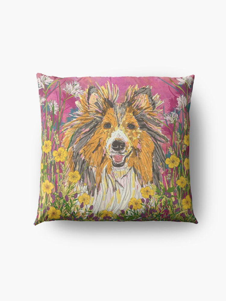 Alternate view of Sheltie Floor Pillow