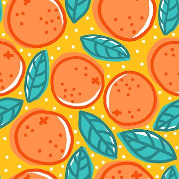 Retro pattern with oranges. by SIR13