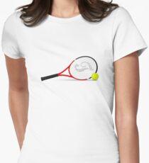 Tennis racket ball Women's Fitted T-Shirt