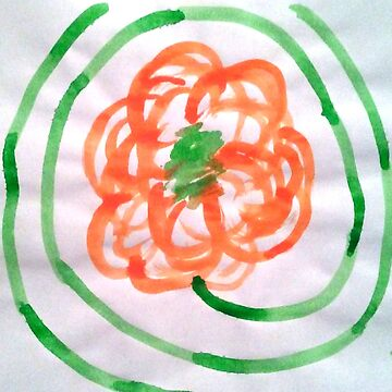Orange Flower With Winding Stem by Hot-Chocolate