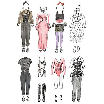 OUTFITS OF MADONNA by flatlaydesign
