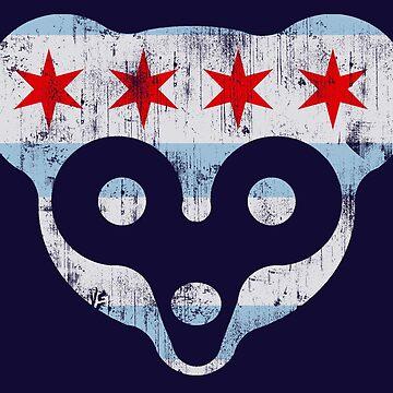 Chicago Flag Cub Face T-Shirt by frittata