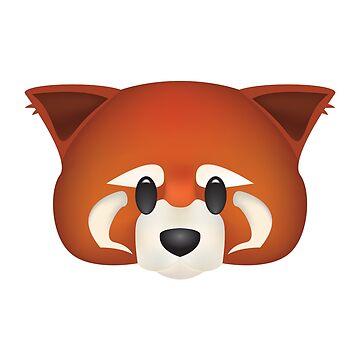 Red Panda Emoji by LinearStudios