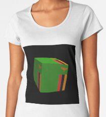 Sambische Flagge 3d gewürfelt Premium Rundhals-Shirt