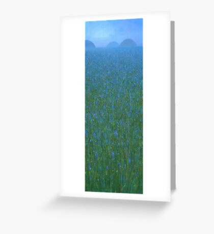 Blue Meadow I Greeting Card