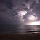 Summer storm over Atlantic by Larry  Grayam