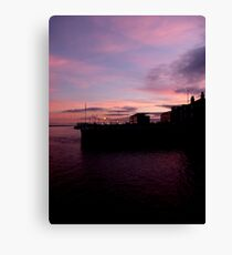 Sun Setting on Hull Marina Canvas Print