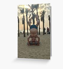 Ben Gurion Headstand Greeting Card
