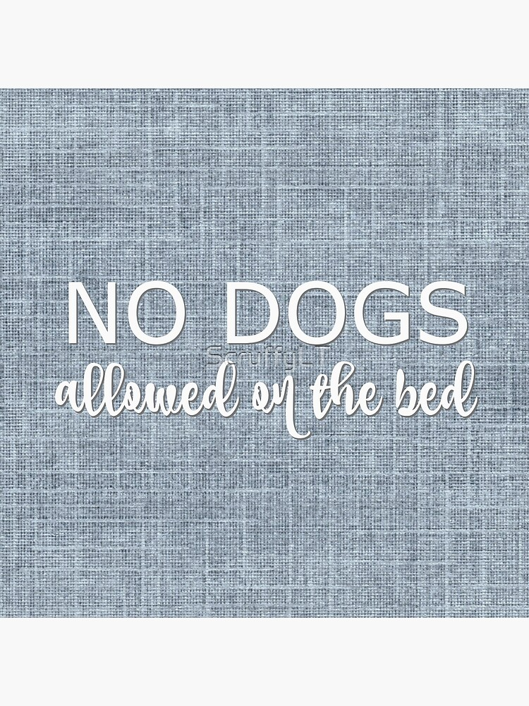 No Dogs Allowed On The Bed by ScruffyLT