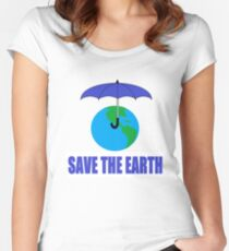 Save the Earth Forever Women's Fitted Scoop T-Shirt