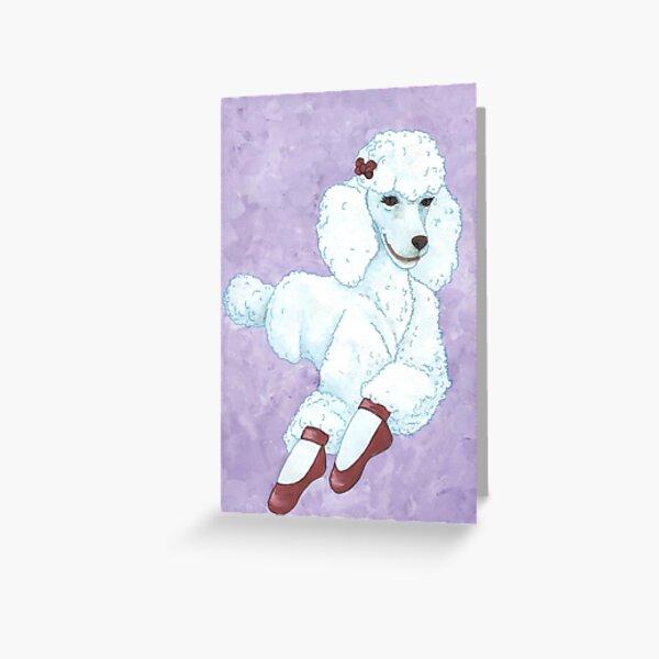 Pavlova Poodle Greeting Card
