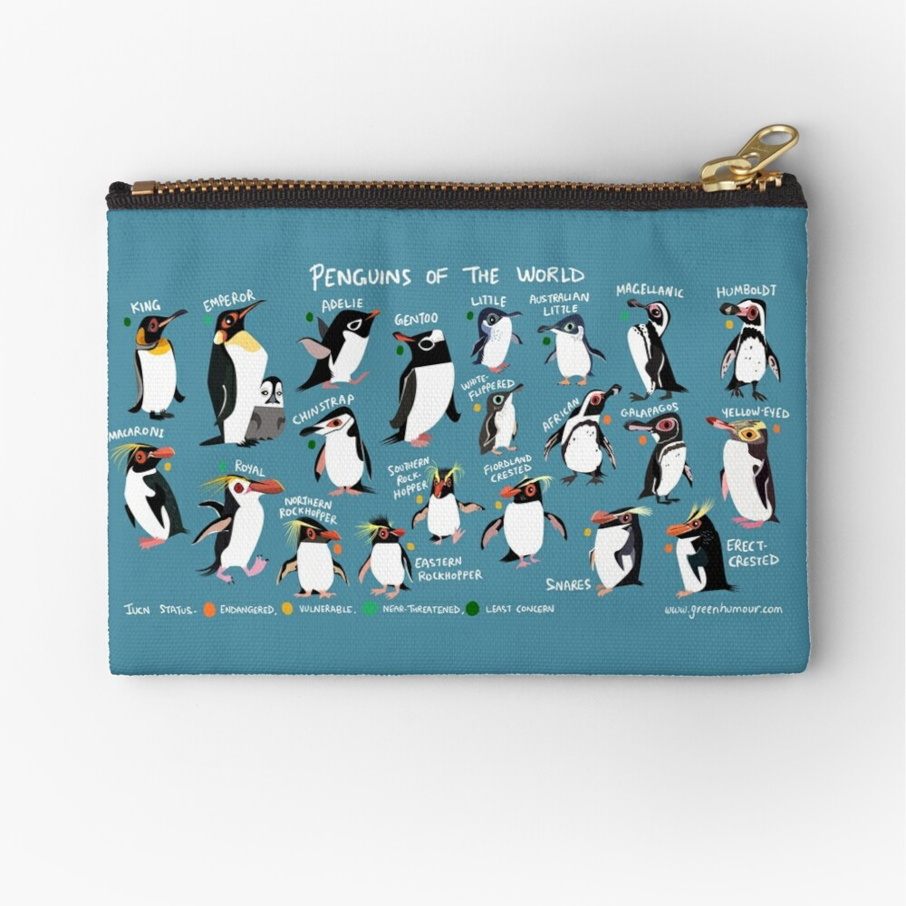 Penguins of the World Zipper Pouch
