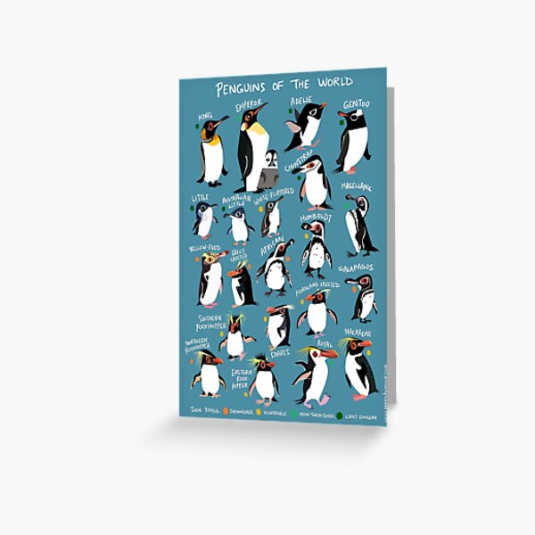 Penguins of the World Greeting Card