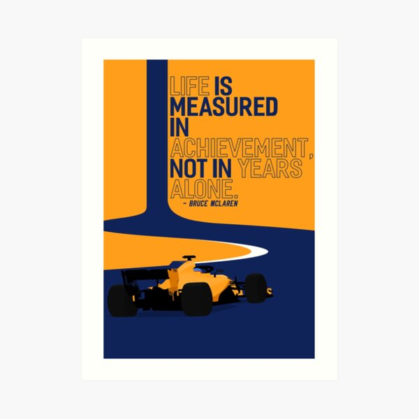 "2018 McLaren F1 ""Achievement"" Art Print"