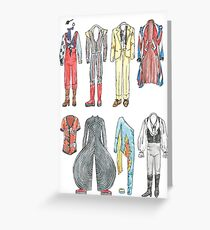 BOWIE COSTUMES Greeting Card