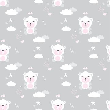 cute seamless pattern with bears by naum100