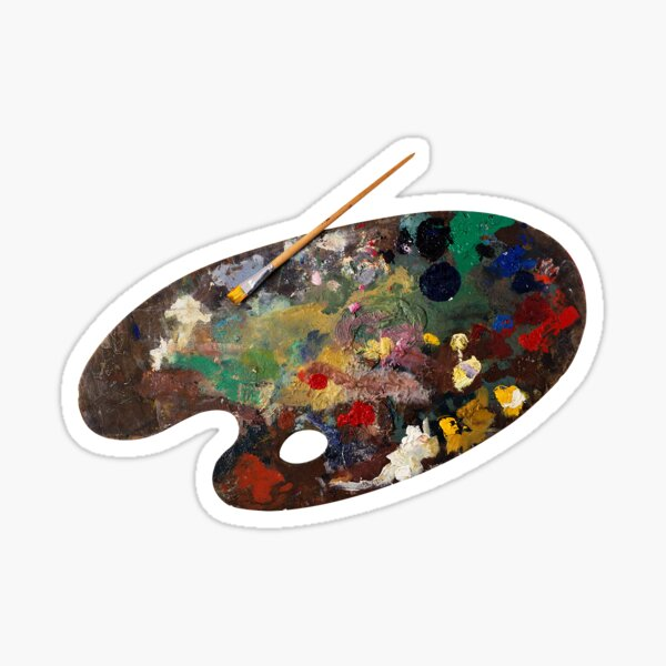paleta de pintura Pegatina