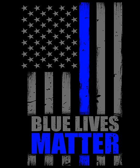 Blue Lives Matter Thin Blue Line Flag Poster By Bluelinegear