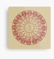 Runic Love Protection Woman Toward Man (red) Metal Print