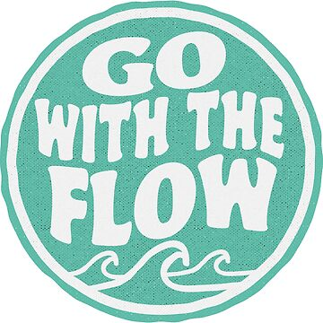 Go With the Flow - Wave Surf Sticker by ericbracewell