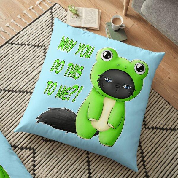 Froggy Mew Mew Floor Pillow