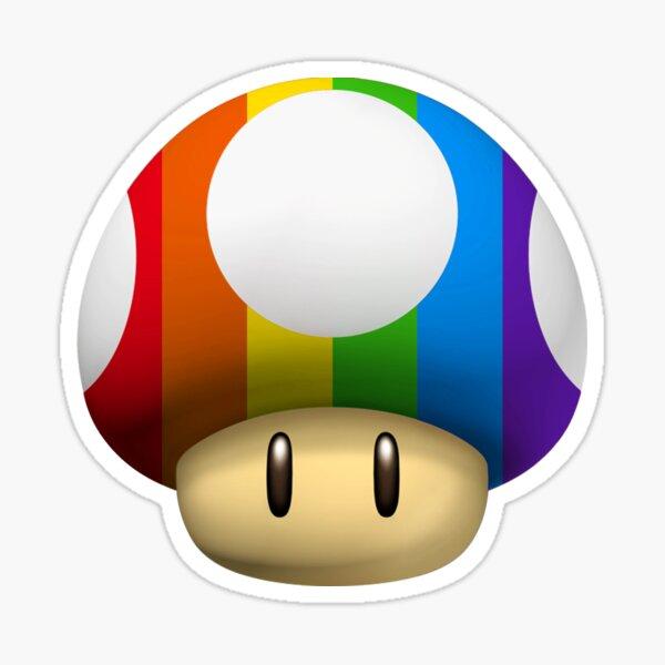 Gay Pride Mushroom Sticker