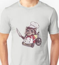 Overcooked Wheelchair Raccoon Chef Unisex T-Shirt