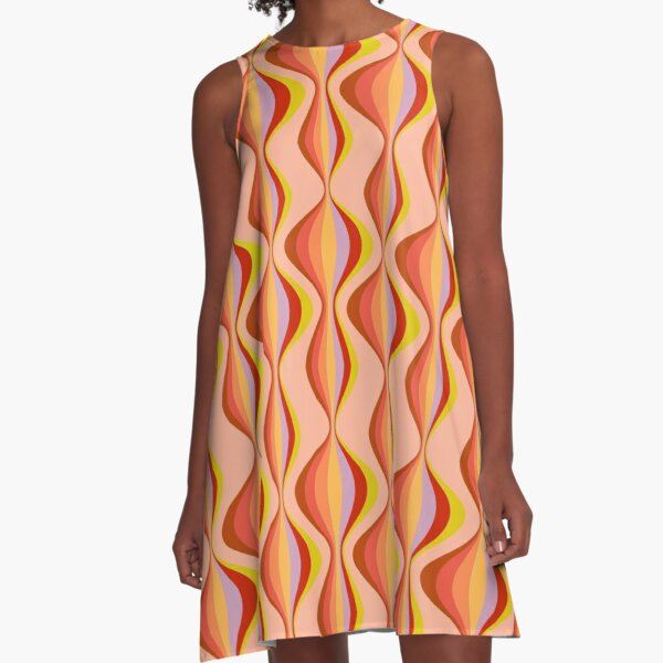 60s Retro Mod Pattern A-Line Dress