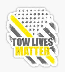 Tow Lives Matter Tow Truck Driver Thin Yellow Line Flag Sticker