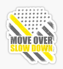 Tow Truck Driver Move Over Slow Down Thin Yellow Line Flag Sticker